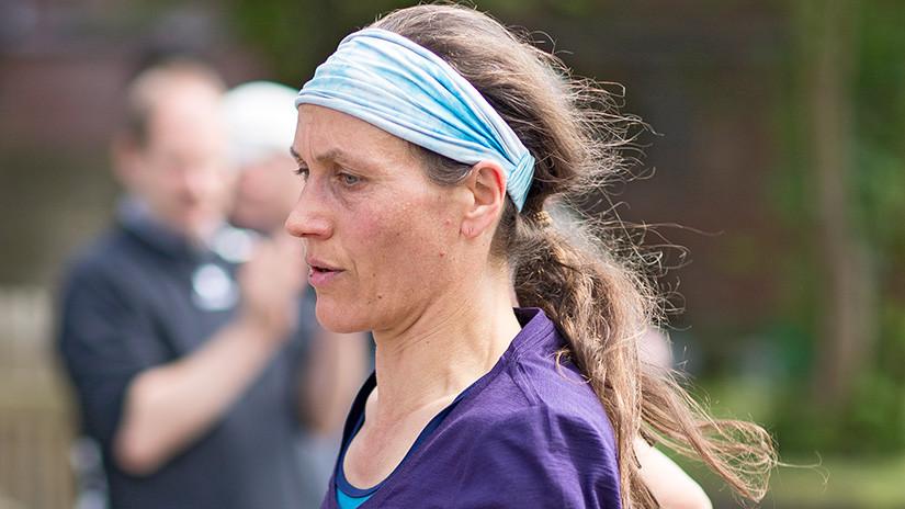 Läuferin 9 km